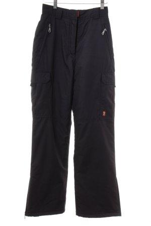 Pantalon de ski bleu foncé-rouge style athlétique