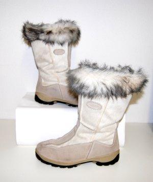 Botas de nieve blanco puro Cuero