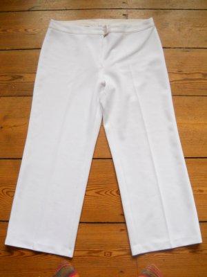 Schneeweiße Vintage Marlenehose Tennishose 23/46