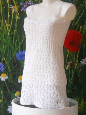 Schneeweißes Vintage Häkel-Minikleid Gr. 34 - 36