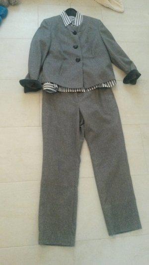 Schneiders Salzburg Abito business grigio-grigio chiaro Cachemire