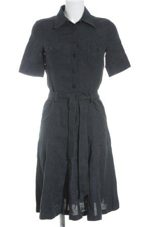 Schneiders Salzburg Kurzarmkleid schwarz-dunkelblau Street-Fashion-Look