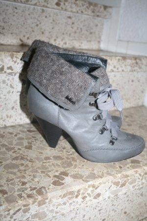 Schnür Ankle-Boots Kiliah Gr. 40 in grau