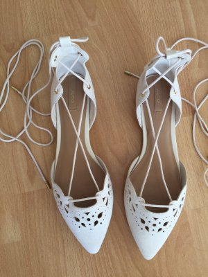 Schnür Ballerinas von Aldo in cremeweiß hellbeige nude - neu und ungetragen - Gr. 40