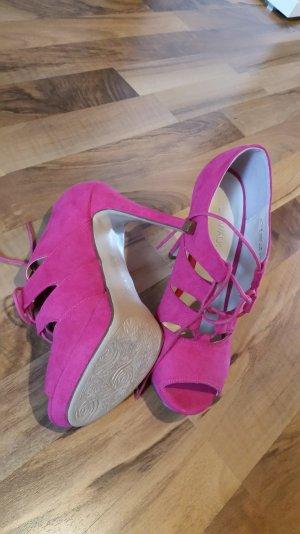 Schnür heels in schönem Pink