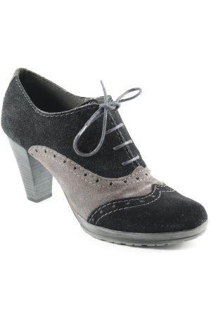 Escarpins à lacets noir-gris brun style mode des rues