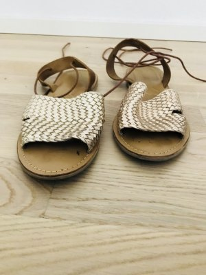 Atmosphere Strapped Sandals sand brown-gold-colored leather