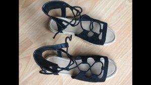 Schnür-Sandalen schwarz Größe 37 von Asos