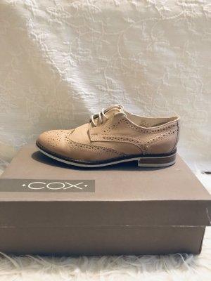 Schnür Schuhe beige COX Gr. 37