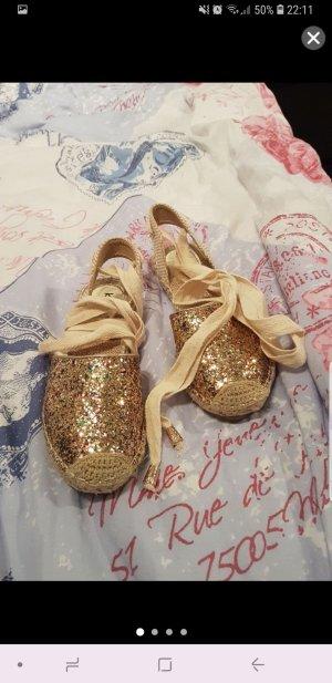 schnür Schuhe mit Glitzer