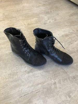 Street Lace-up Boots black