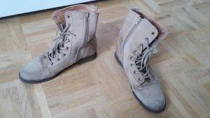 Schnür Stiefel beige braun Monshoe