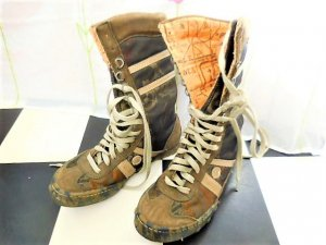 Art Lace-up Boots multicolored
