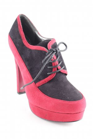 Lace-up Booties dark red-black extravagant style