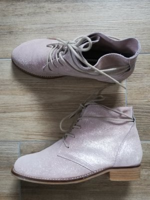 5th Avenue Lace-up Booties pink-light pink
