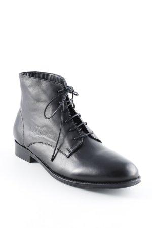 Schnür-Stiefeletten schwarz Casual-Look