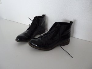 Schnür Stiefeletten schwarz Gr. 38