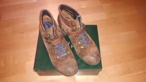 Paul Green Bottines à lacets ocre cuir