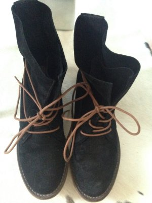 Spm Lace-up Booties black-brown leather