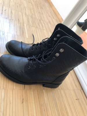 Pieces Lace-up Boots black-anthracite