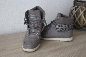 Schnürboots Esprit Boots Schuhe grau Stiefeletten Hightops 38