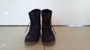 5th Avenue Lace-up Boots black leather