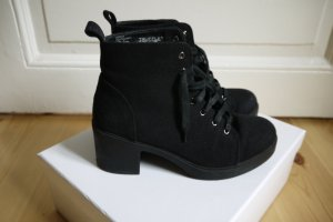 Asos Lace-up Booties black