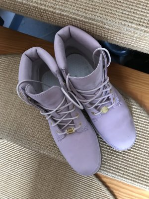 Timberland Bottines à lacets rosé
