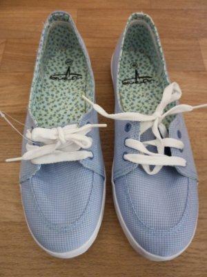 Zeilschoenen azuur-wit