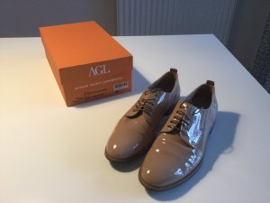 AGL Lace Shoes nude leather