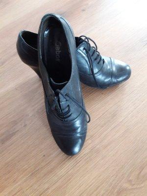 Gabor Escarpins à lacets noir cuir