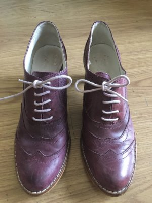 Aces of London Lace-up Pumps brown violet