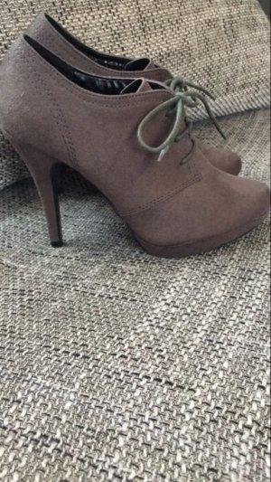 Schnürpumps High Heel Ankle Boots Gr. 38