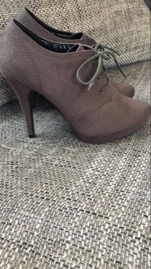 Schnürpumps High Heel Ankle Boots Gr. 38