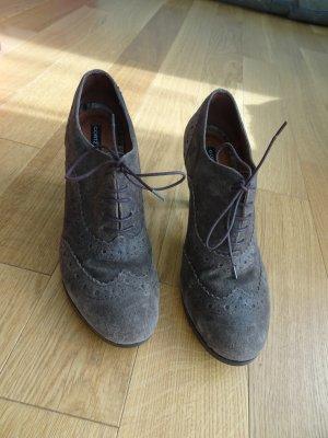 Görtz Shoes Lace-up Pumps grey brown suede