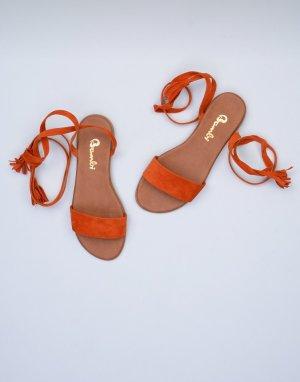 Sandalias romanas naranja