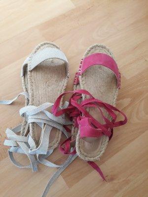 Asos Sandalias romanas gris claro-rosa