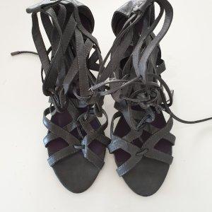 Escarpins à lacets gris foncé