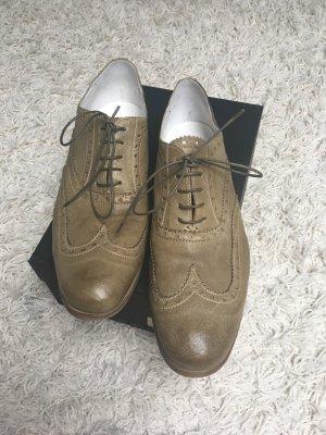 Lace Shoes green grey-khaki