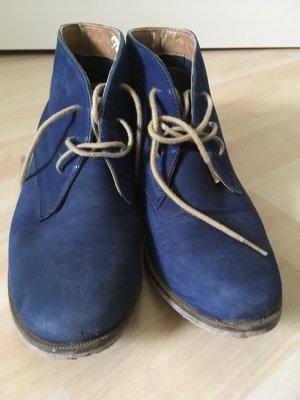 Schnürschuhe blau 38