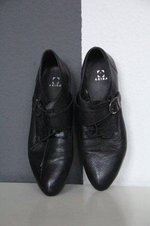 Schnürschuhe Budapester schwarz Gr. 39
