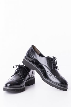 Paul Green Lace Shoes black leather
