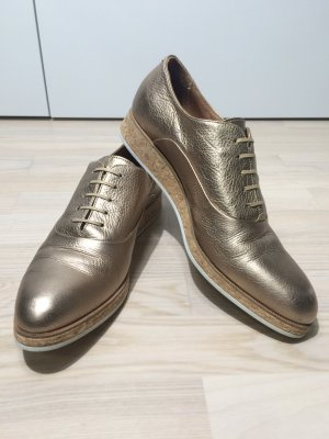 Marc Cain Lace Shoes gold-colored leather