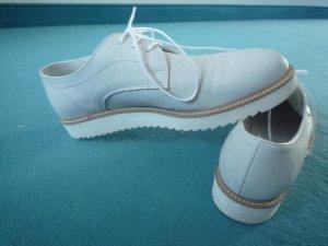 Schnürschuhe mit weißer Sohle, Gr. 38, *NEU*