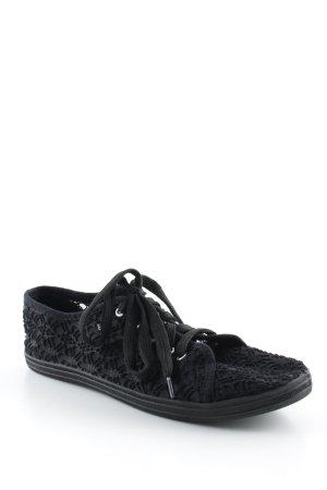 Schnürschuhe schwarz Casual-Look