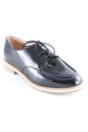 Chaussures à lacets noir-marron clair style d'affaires