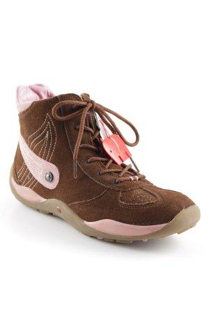Schnürschuhe schwarzbraun-rosa sportlicher Stil