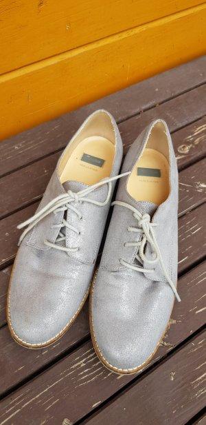 Bata Lace Shoes silver-colored