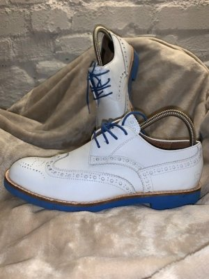 G-Star Raw Lace Shoes white-neon blue leather