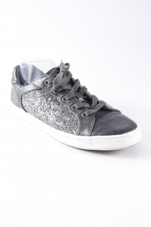 Star Collection Schnürsneaker grau-silberfarben Glitzer-Optik